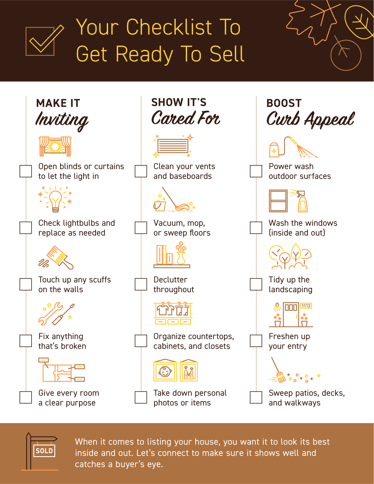 Your Checklist To Get Ready To Sell [INFOGRAPHIC]   Simplifying The Market
